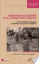 Mémoires de guerre d'un combattant kabyle