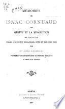 Mémoires de Isaac Cornuaud sur Genève et la révolution de 1770 à 1795