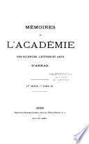 Mémoires de l'Académie d'Arras