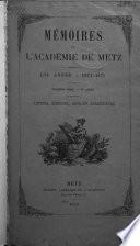 Mémoires de l'Académie de Metz
