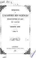 Mémoires de l'Académie de Savoie