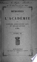 Mémoires de l'Académie des sciences, agriculture, arts et belles-lettres d'Aix
