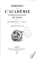 Mémoires de l'Académie des sciences, arts et belles lettres de Dijon