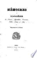 Mémoires de l'Académie des Sciences, des Lettres et des Arts d'Amiens
