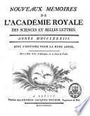 Mémoires de l'Académie Royale des Sciences et Belles-Lettres
