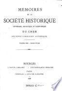 Mémoires de la Commission Historique du Cher