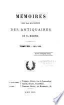 Mémoires de la Société académique des antiquaires de la Morinie