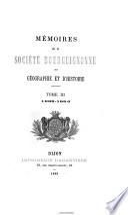 Mémoires de la Société Bourguignonne de Géographie et d'Histoire
