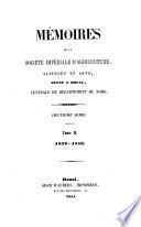 Mémoires de la société d'agriculture, sciences & arts centrale du département du Nord séant a Douai