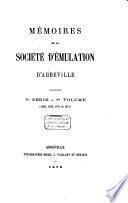 Mémoires de la Société d'Émulation d'Abbeville..