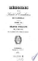 Memoires de la Societe d'emulation de Cambrai. (Avec planches.)