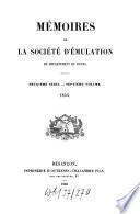 Mémoires de la Société d'Emulation du Département du Doubs