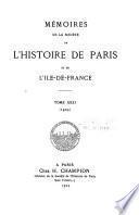 Mémoires de la Société de l'histoire de Paris et de l'Île-de-France
