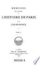 Memoires de la société de l'histoire de Paris et de l'Ile-de-France