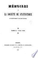 Mémoires de la Société de statistique du département des Deux-Sèvres