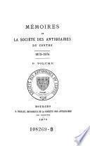 Mémoires de la Sociéte des Antiquaires du Centre
