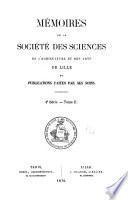 Mémoires de la Société des sciences, de l'agriculture et des arts de Lille