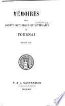 Mémoires de la Société historique et archéologique de Tournai