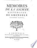 Mémoires de la Société littéraire de Grenoble
