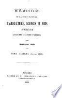 Mémoires de la Société nationale d'agriculture, sciences et arts d'Angers