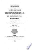 Mémoires de la Société nationale des sciences naturelles et mathématiques de Cherbourg