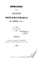 Mémoires de la société Philomatique de Verdun