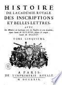 Mémoires de littérature tirés des registres de l'Académie royale des inscriptions et belles-lettres