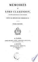 Mémoires de Lord Clarendon,