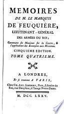 Mémoires de M. le marquis de Feuquière ...