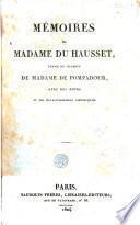 Mémoires de madame Du Hausset, femme de chambre de madame de Pompadour