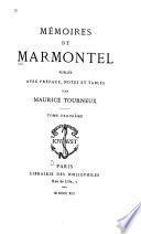 Memoires de Marmontel