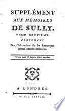 Mémoires de Maximilien de Béthune, duc de Sully, ministre de Henry IV