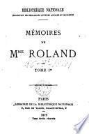 Mémoires de Mme Roland