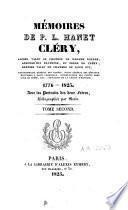 Mémoires de P.L. Hanet Cléry ancien valet de chambre de Madame Royale [...]