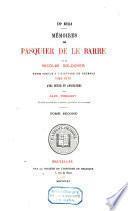 Mémoires de Pasquier de le Barre et de Nicolas Soldoyer