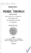 Mémoires de Pierre Thomas, sieur du Fossé