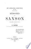 Mémoires de Sanson, mis en ordre, rédigés et publiés