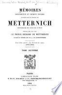 Mémoires, documents et écrits divers laissés: 3. ptie.: La période de repos (1848-1859)