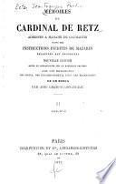 Mémoires du cardinal de Retz adressés à Madame de Caumartin