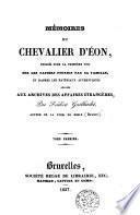 Mémoires du chevalier d'Eon