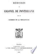 Mémoires du Colonel de Pontbriand sur les guerres de la chouannerie