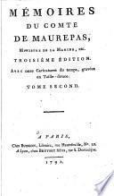 Mémoires du comte de Maurepas,