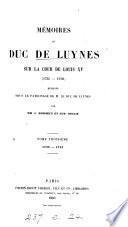 Mémoires du duc de Luynes sur la cour de Louis XV (1735-1758)
