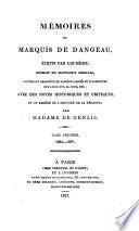 Mémoires du marquis de Dangeau, avec des notes historiques et critíques, et un abrégé de l'histoire de la Régence par madame de Genlis