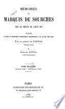 Mémoires du marquis de Sourches sur le règne de Louis XIV