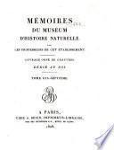 Mémoires du Muséum d'histoire naturelle