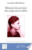 Mémoires du survivant des camps nazis