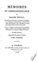 Mémoires et correspondance de madame d'Épinay