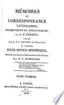 Mémoires et correspondance littéraires