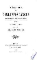 Mémoires et correspondances